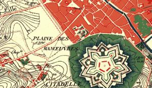 Extrait de la carte du dépôt de la guerre (1865-1880)